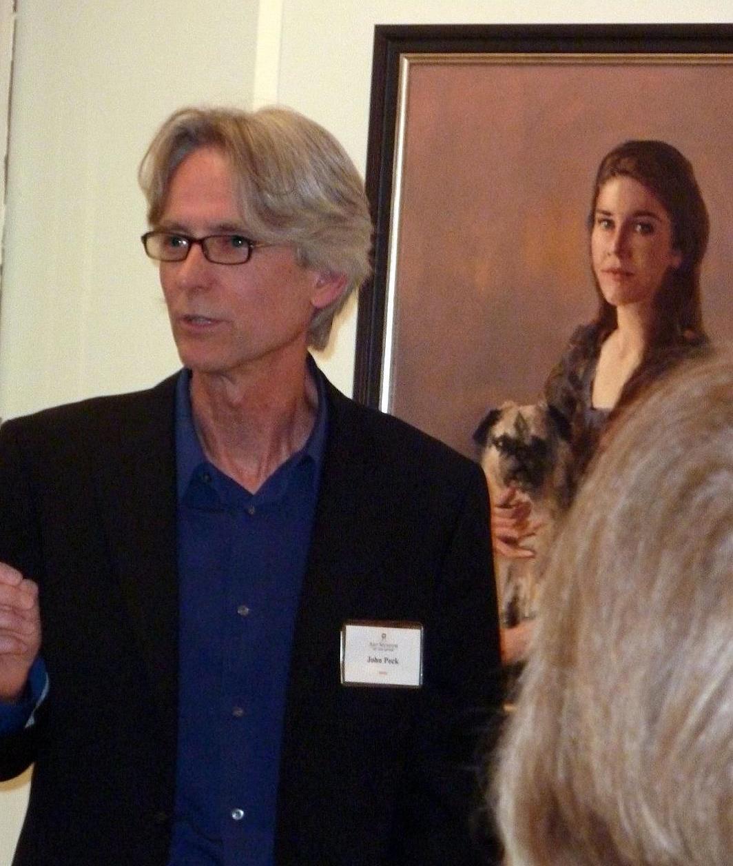John lecturing